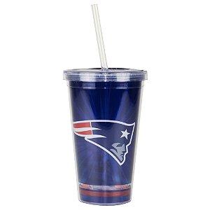 Copo C/ Canudo New England Patriots - NFL
