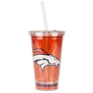 Copo C/ Canudo Denver Broncos - NFL