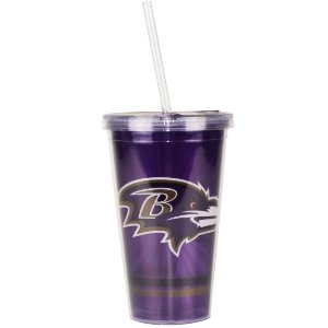 Copo C/ Canudo Baltimore Ravens - NFL
