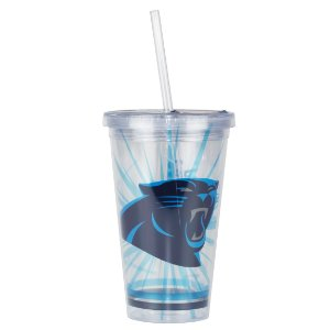 Copo C/ Canudo Carolina Panthers - NFL
