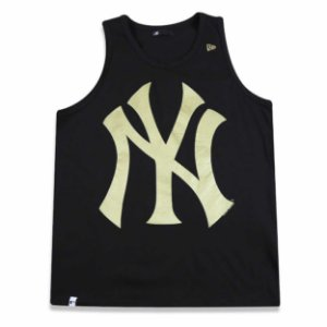 Regata New York Yankees Basic Preta/Dourado - New Era