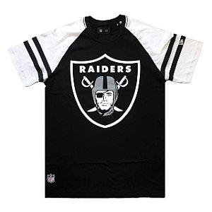 Camiseta Oakland Raiders Logo Raglan - New Era