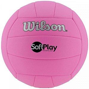 Bola de Vôlei Soft Play Rosa - Wilson