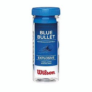 Tubo com 3 Bolinhas de Frescobol Wilson Blue Bullet