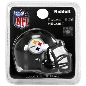 Mini Capacete Riddell Pittsburgh Steelers Pocket Size