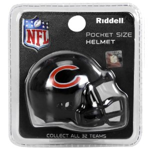 Mini Capacete Riddell Chicago Bears Pocket Size