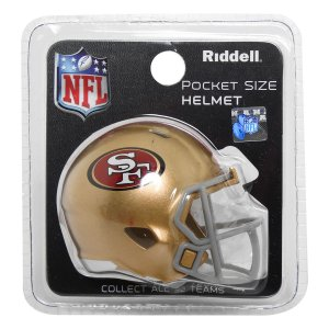 Mini Capacete Riddell San Francisco 49ers Pocket Size