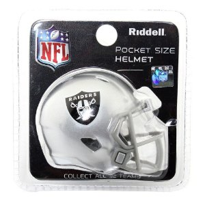 Mini Capacete Riddell Oakland Raiders Pocket Size