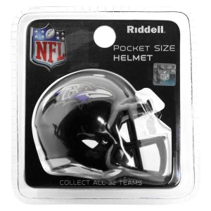 Mini Capacete Riddell Baltimore Ravens Pocket Size