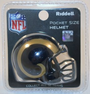 Mini Capacete Riddell Los Angeles Rams Pocket Size