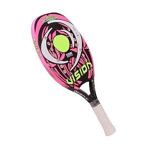 Raquete Beach Tennis Vision Lotus Rosa