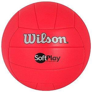 Bola de Vôlei Soft Play Vermelho - Wilson