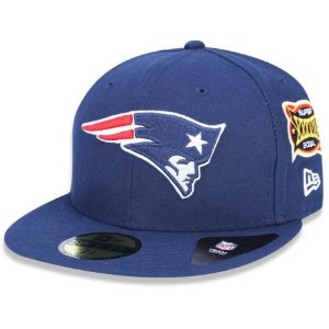 Boné New England Patriots 5950 5x Champion Fechado - New Era