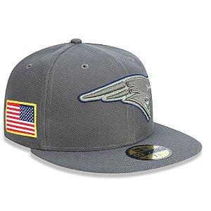 Boné New England Patriots 5950 Salute To Service 17 Fechado - New Era