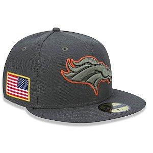 Boné Denver Broncos 5950 Salute To Service 17 Fechado - New Era