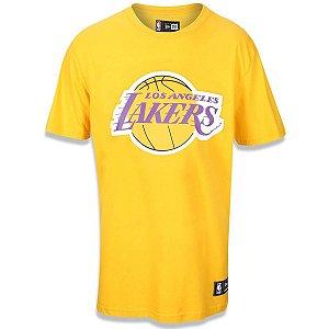 Camiseta Los Angeles Lakers Basic Amarelo - New Era