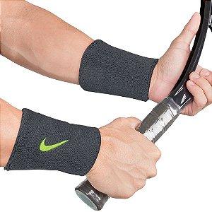 Munhequeira Nike Swoosh Double Cinza Escuro