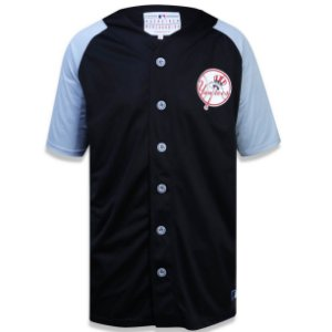 Camisa Botão New York Yankees Raglan Bicolor - New Era