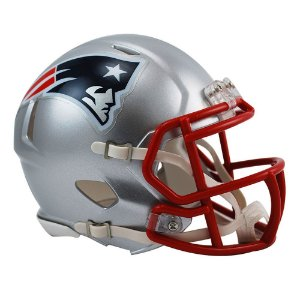 Capacete Riddell New England Patriots Miniatura Revolution Speed