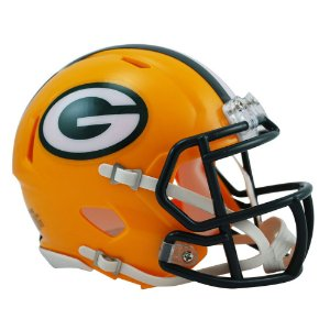 Capacete Riddell Green Bay Packers Miniatura Revolution Speed