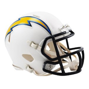Capacete Riddell Los Angeles Chargers Miniatura Revolution Speed