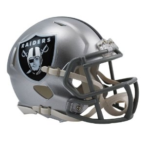 Capacete Riddell Oakland Raiders Miniatura Revolution Speed