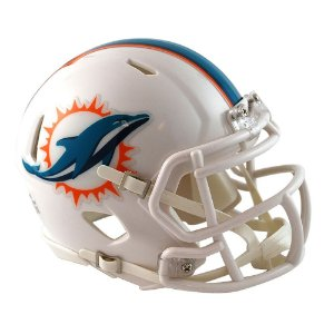 Capacete Riddell Miami Dolphins Miniatura Revolution Speed