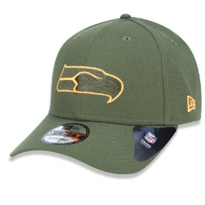 Boné Seattle Seahawks 940 Military Orange Logo - New Era