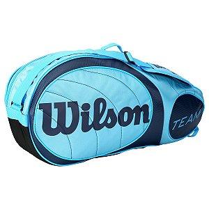 Raqueteira Wilson Team X3 Azul