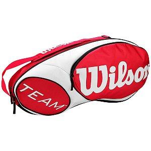 Raqueteira Wilson Team X6 Vermelho/Branco