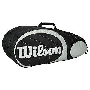 Raqueteira Wilson Team X9 Preta/Prata