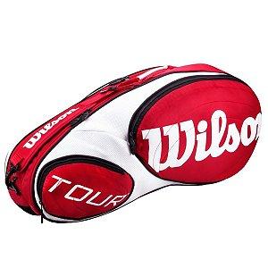 Raqueteira Wilson Tour X6 Vermelho/Branco