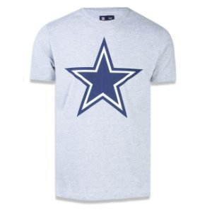 Camiseta Dallas Cowboys Basic Cinza - New Era