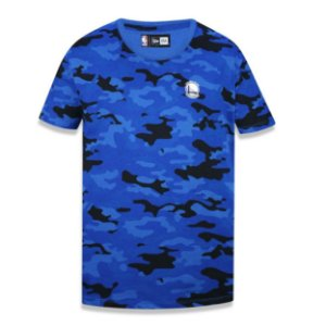 Camiseta Golden State Warriors Militar Full Camuflado - New Era
