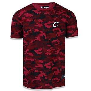 Camiseta Cleveland Cavaliers Militar Full Camuflado - New Era