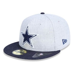 Boné Dallas Cowboys 5950 Heather Crisp Fechado - New Era
