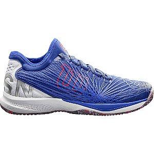 Tenis Wilson Kaos 2.0 STF Clay Court Masculino Azul e branco