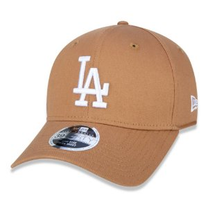Boné Los Angeles Dodgers 3930 White on Brown - New Era
