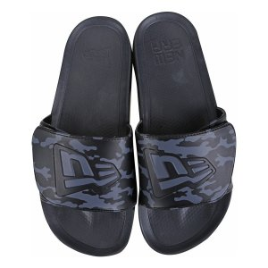 Chinelo Oreo Preto/Prata - New Era