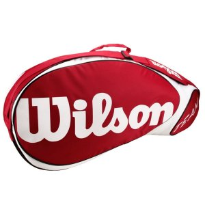 Raqueteira Wilson Team X3 Vermelha/Branca