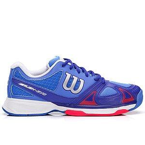 Tenis Wilson Rush Evo Azul e  Vermelho