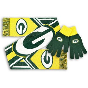 Kit Cachecol + Luva Green Bay Packers - Forever