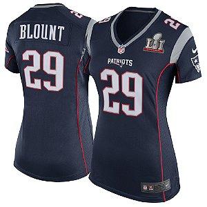 Camisa Jersey Nike New England Patriots Game SB51 Feminina