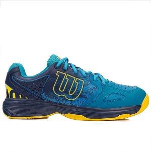 Tenis Wilson K Energy Masculino Azul e Amarelo