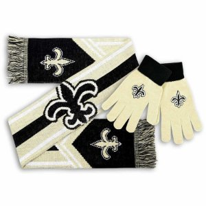 Kit Cachecol + Luva New Orleans Saints - Forever