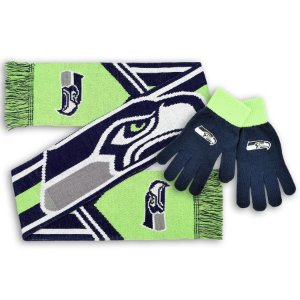Kit Cachecol + Luva Seattle Seahawks - Forever
