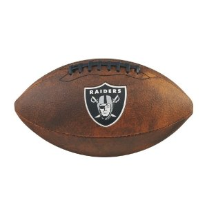 Bola Futebol Americano Oakland Raiders Throwback - Wilson