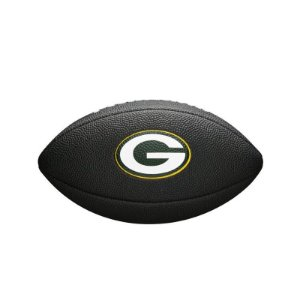 Bola Futebol Americano Green Bay Packers Team Logo Black - Wilson