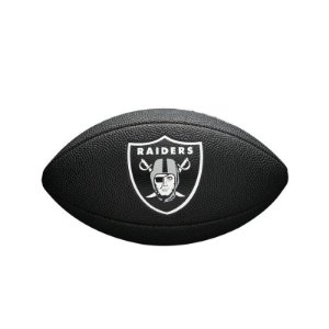 Bola Futebol Americano Oakland Raiders Team Logo Black - Wilson