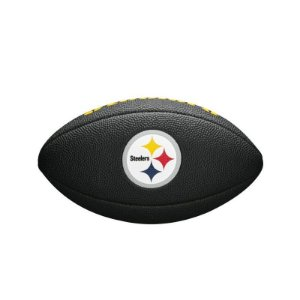 Bola Futebol Americano Pittsburgh Steelers Team Logo Black - Wilson
